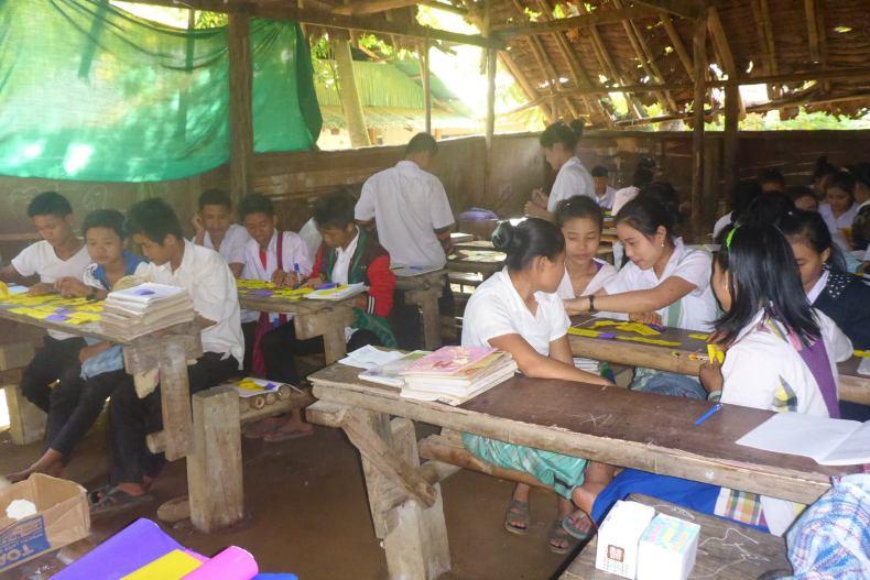 Classroom at Mae Ra Moe Refugee Camp