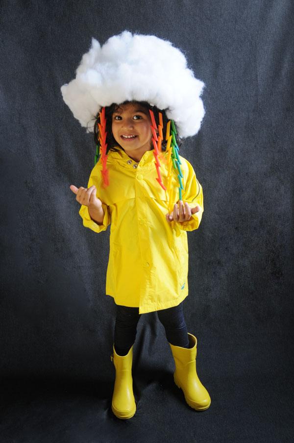 Make a DIY Rainbow and Cloud Halloween Costume