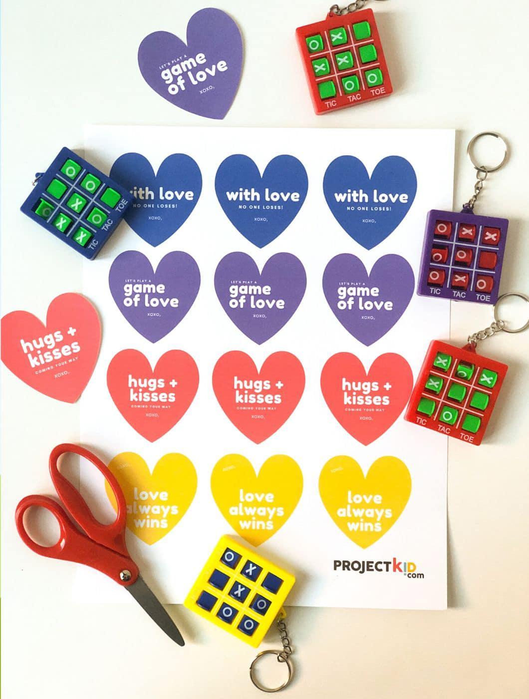 Free Valentine Tag Printable For Tic Tac Toe Keychain