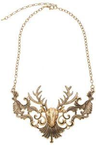 Old Gold Deer Necklace