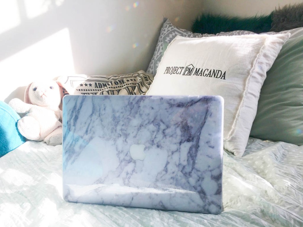 Laptop skin--Society6. PM Pillow--Gifted.