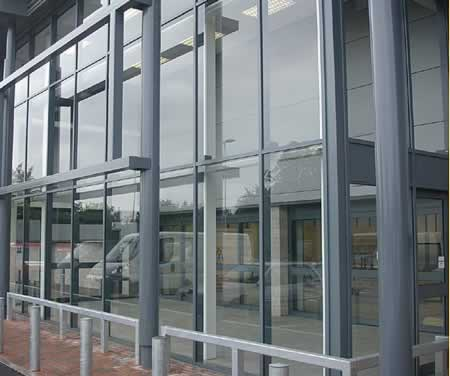 Glazed Aluminum Curtain Wall. INSTALLATION ...