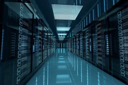 Photo of Dark Server Room