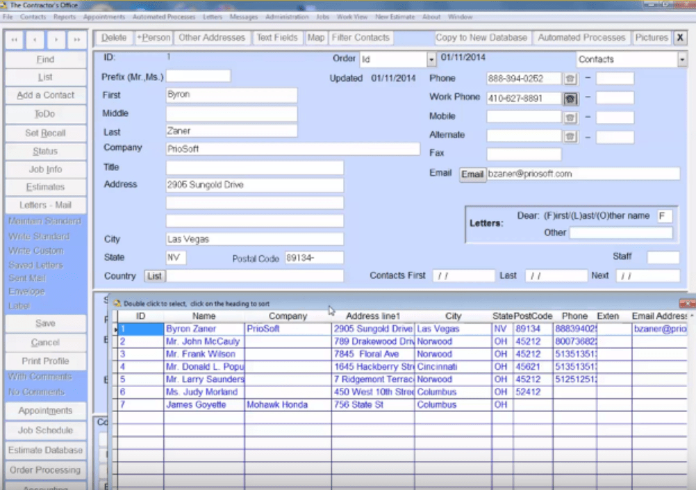 PrioSoft Project Cost Software Screenshots