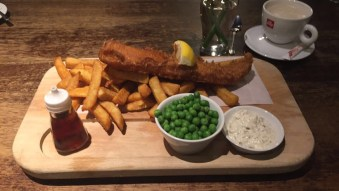 Fish and chips Fountain style