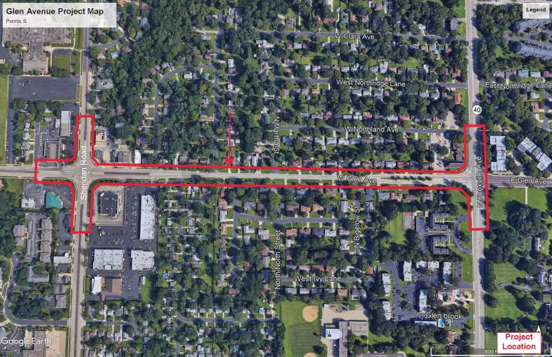 Glen Avenue - Project Location Map (002)