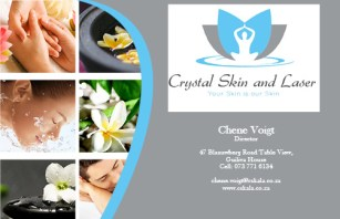 Crystal Skin and Laser Business Card