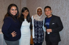 From left to right: Lama Zakzok (Baylor University), Saira Ahmed (Texas A&M), Hauwa Abbas (Michigan State University), Alex Elnagdy (University of Colorado, Boulder)