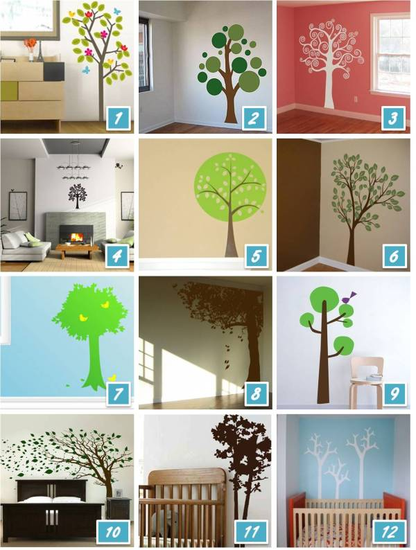 Baby Nursery Wall Decals Trees
