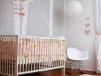 Modern Pink and Orange Girls Nursery