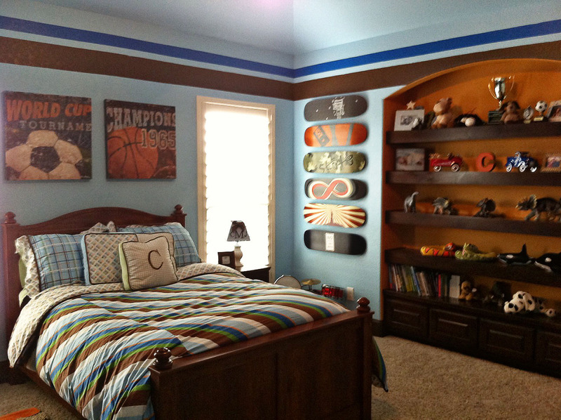 vintage sports boys room project nursery