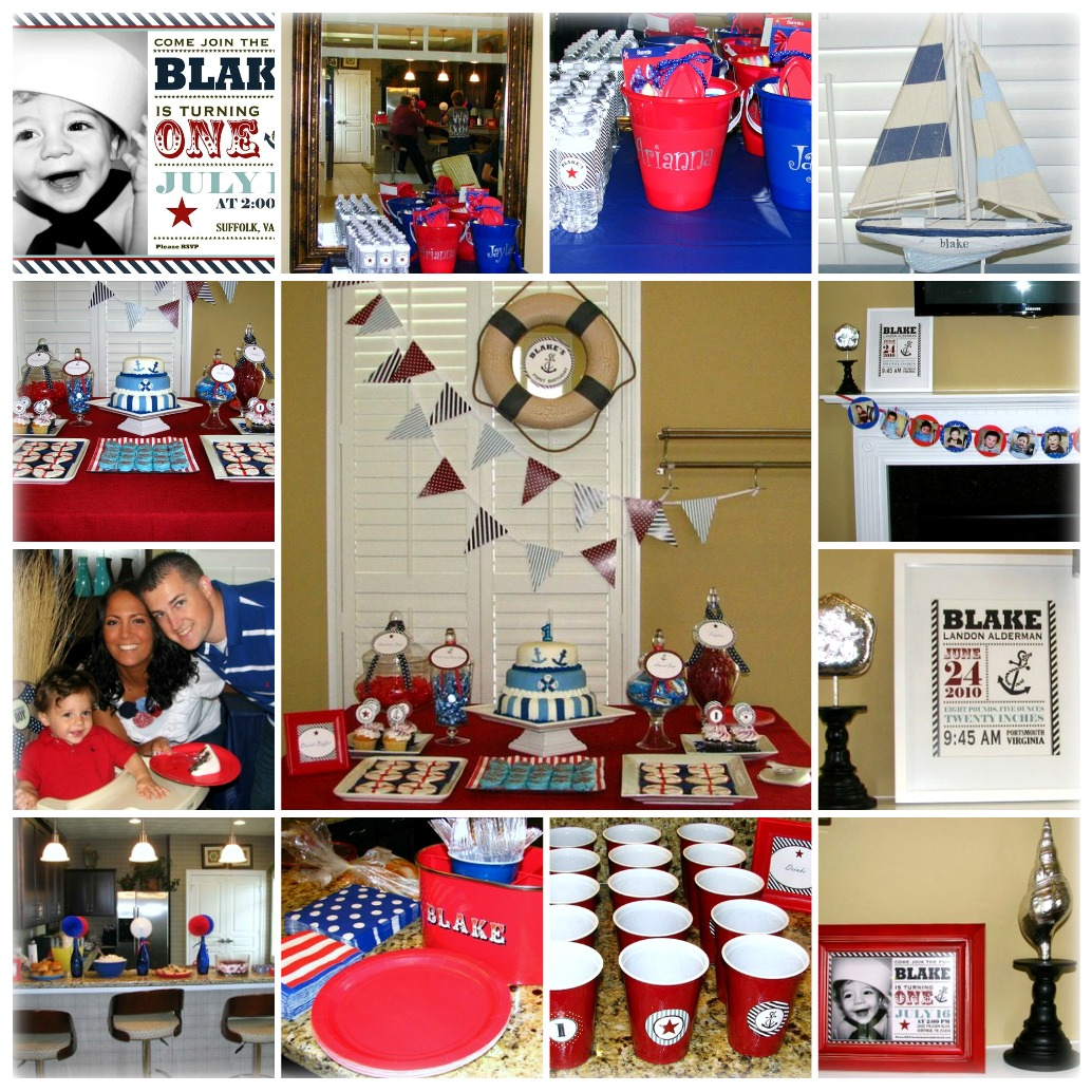 Nautical First Birthday Party Project Nursery