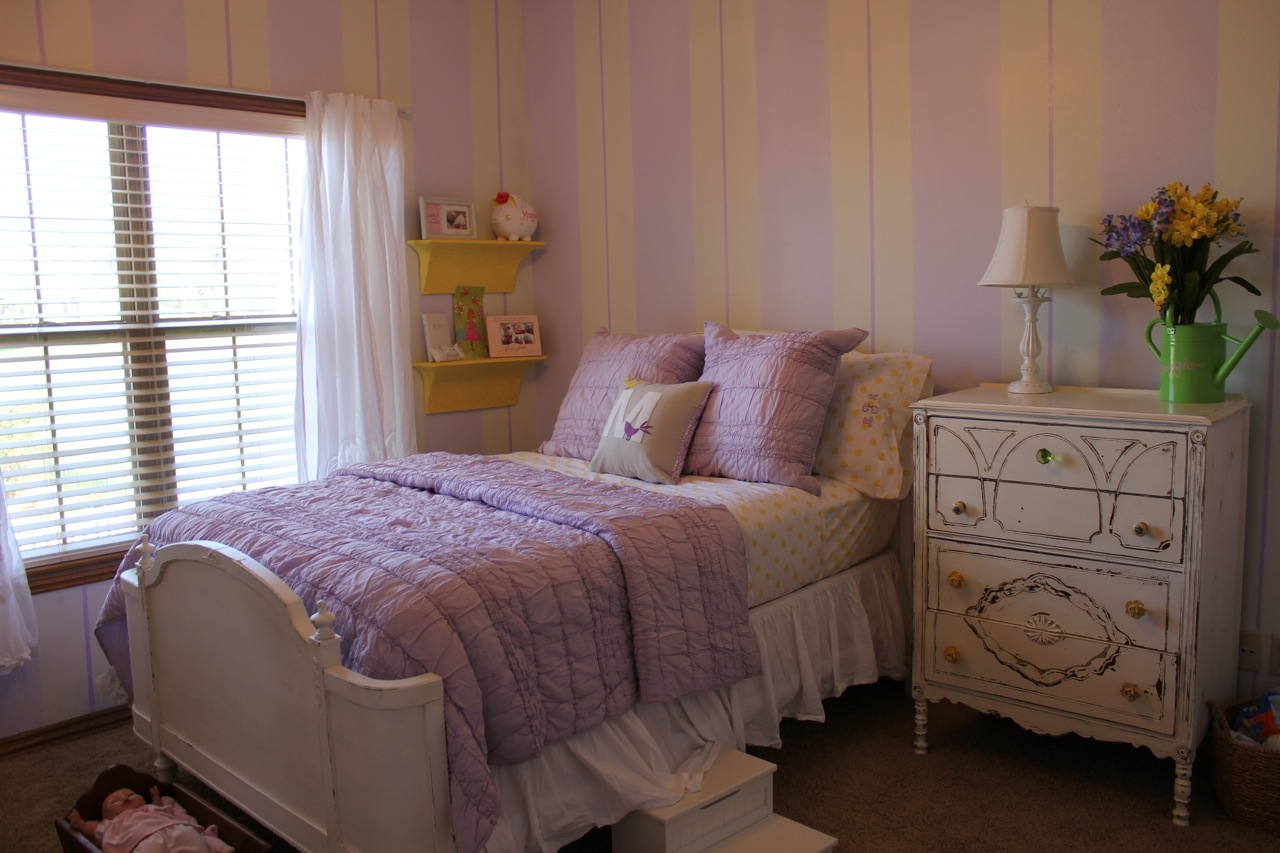 Lilac and Yellow Toddler Room  Project Nursery