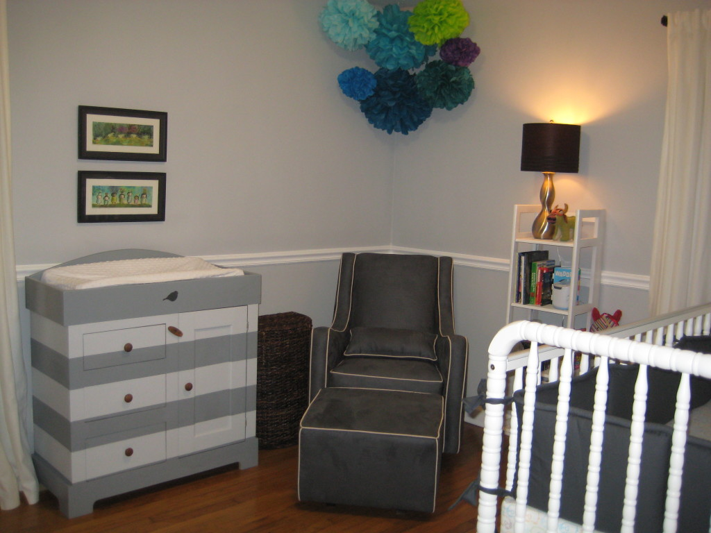 Grey Nursery Chair Vintage Modern Nursery In Gray And Turquoise Project Nursery