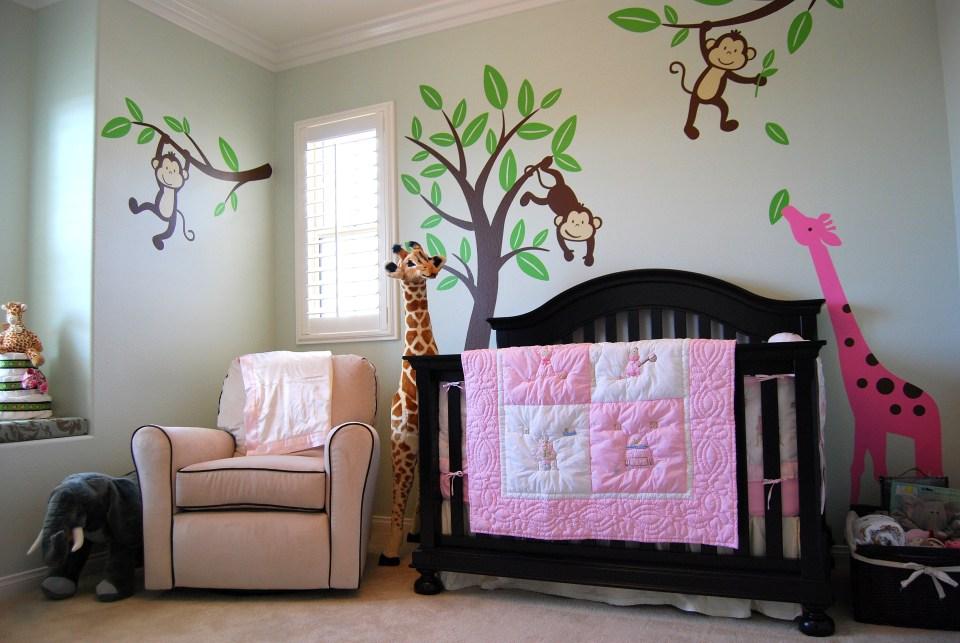 baby m's jungle-themed nursery - project nursery