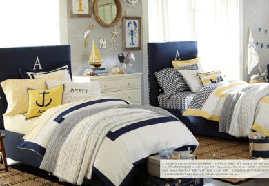 Nautical Stripe Bedding