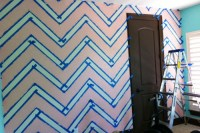 How to Paint a Chevron Wall - Project Nursery