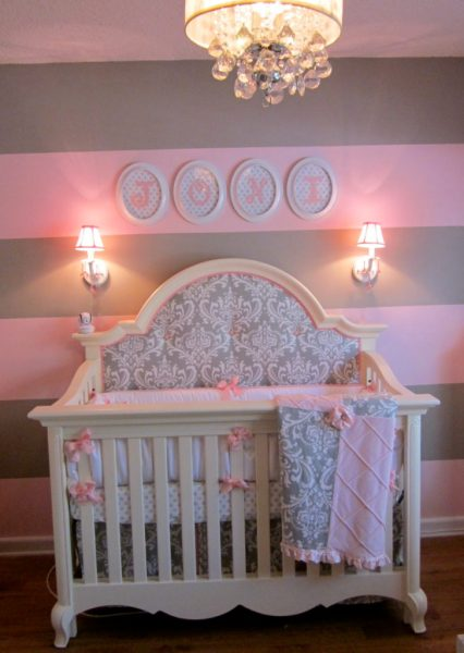gray and pink twin girl bedroom ideas Pink and Gray for Baby J - Project Nursery