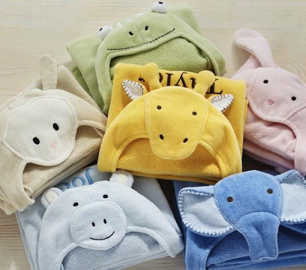monogrammed hooded towels