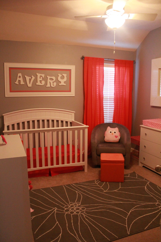 Averys Orange  Pink Nursery  Project Nursery