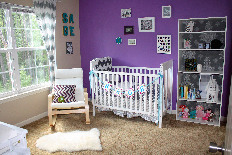Purple And Chevron A Modern Girl Nursery Project Nursery