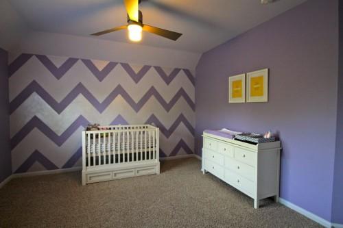 Little Girl Nursery Wallpaper Purple Girls Rooms Project Nursery