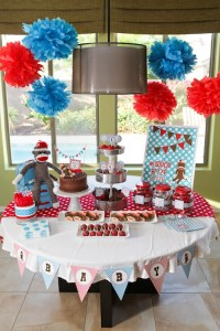 Sock Monkey Themed Baby Shower