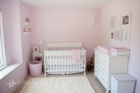 Simple pink and white girl nursery