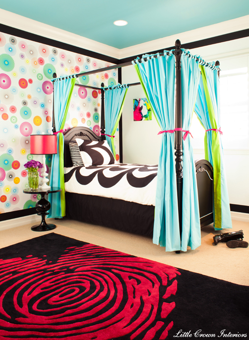 Crazy Colorful Girls Bedroom  Project Nursery