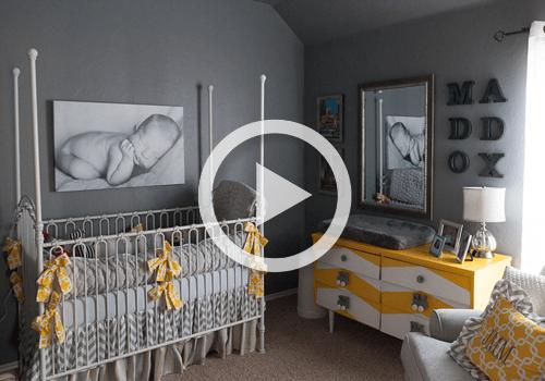Room Tour Gray and Yellow Nursery