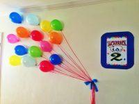 Balloon Wall Decor   Party Favors Ideas