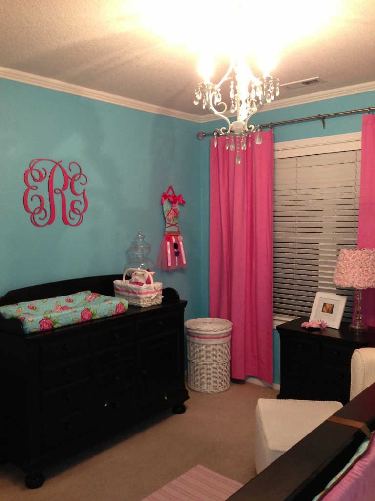 Emersons Pink and Turquoise Nursery  Project Nursery