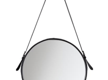 High vs. Low: Round Leather Mirrors