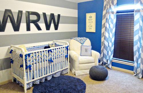 monogram wall decor in the nursery