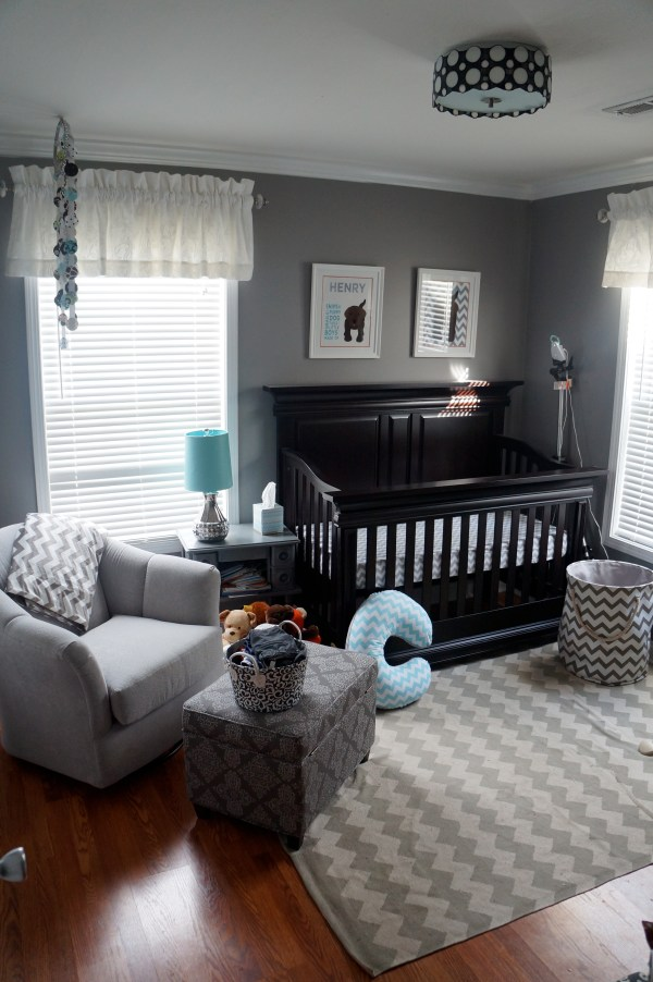 Gray Baby Boy Nursery Room Ideas