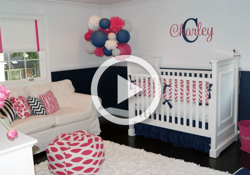 Room Tour Navy And Pink Nursery