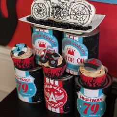 Harley Davidson Living Room Decor Ideas Color 2018 Party Reveal: Motorcycle Birthday