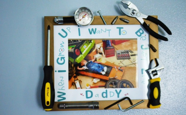 Fathers Day Diy Baby Mechanic Tool Frame Project Nursery