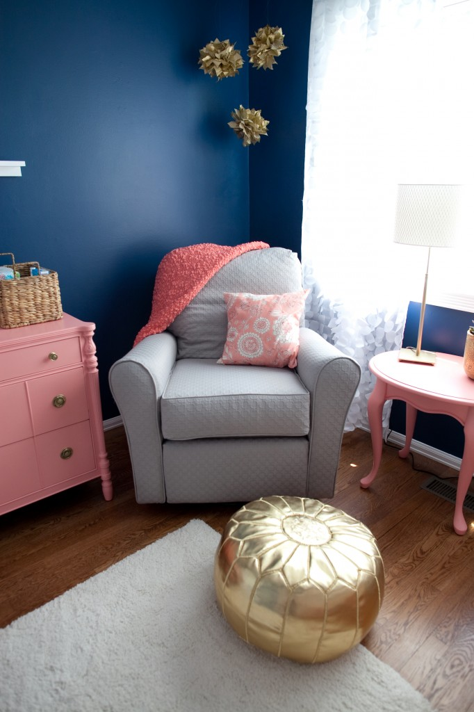 Elliotts Cobalt Coral Gold and Gray Nursery  Project