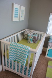Aqua, Gray, & Green Baby Boy Nursery - Project Nursery
