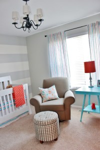 Aqua, Orange, and Grey Nursery - Project Nursery