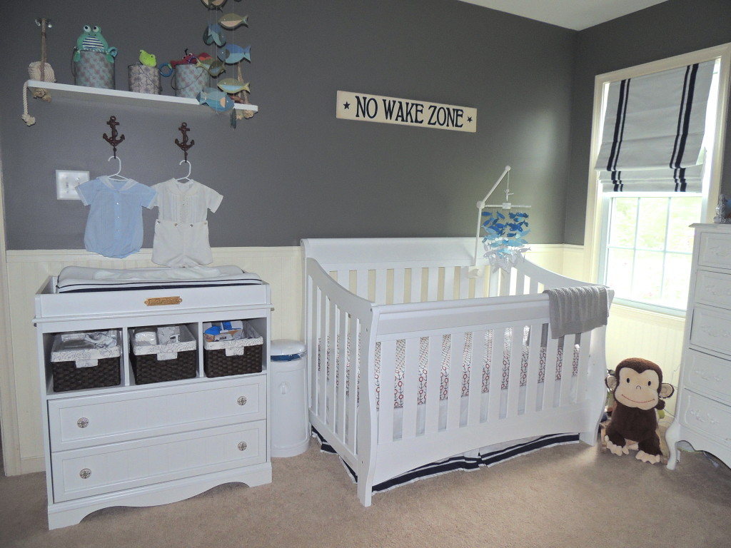 Gray & Navy Nautical Nursery