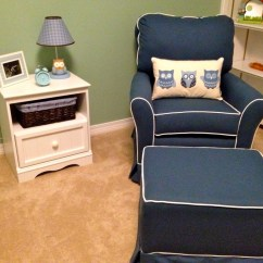 Blue Nursery Chair Target Folding Table And Chairs Navy Glider Thenurseries