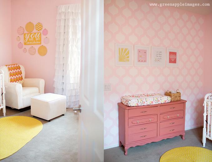 Baby Girl Nursery Pink Wallpaper Amelia S You Are My Sunshine Nursery Project Nursery