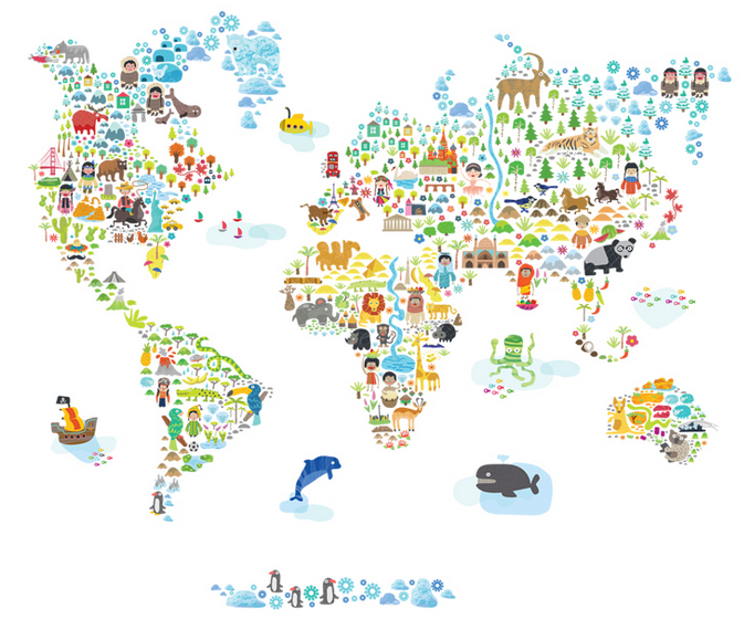 Pop & Lolli Iconic Cultural World Map Review