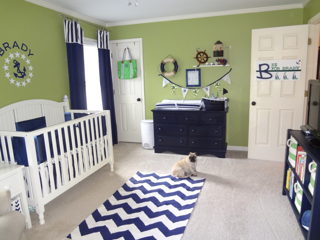 Green and Navy Nautical Nursery