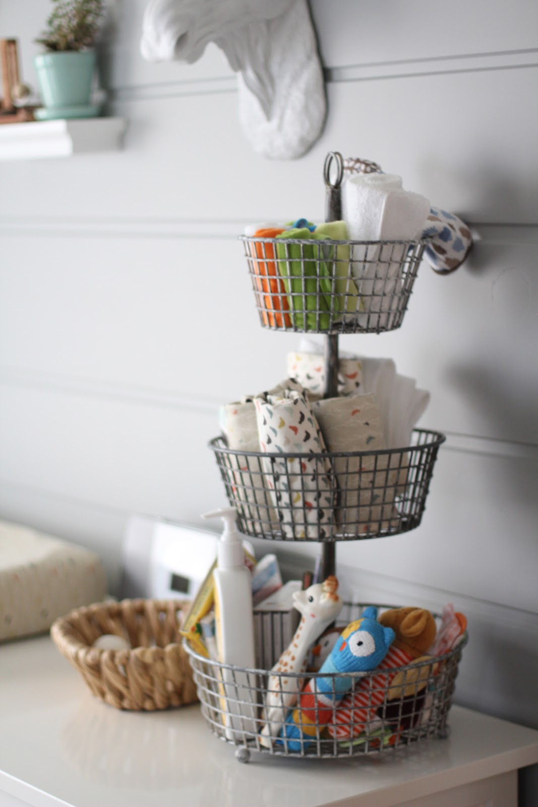 kitchen basket storage sink and cabinet nursery organization ideas project