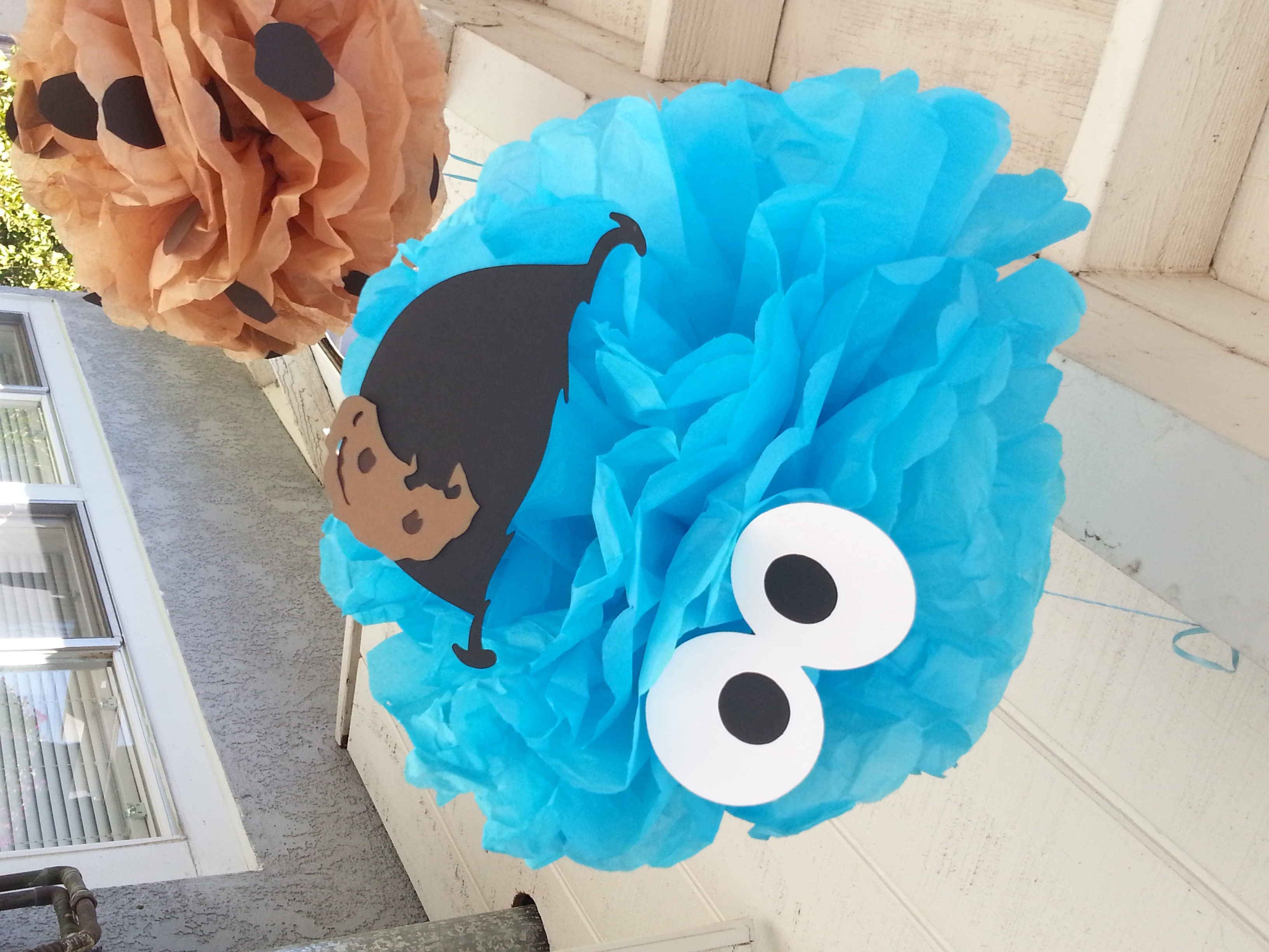 cookie monster chair egg swing rural king 39s milk and cookies 1st birthday party