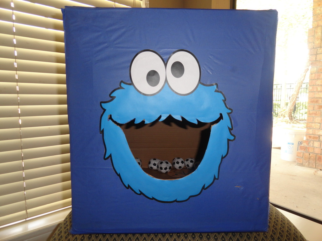 cookie monster chair vintage slipper first birthday party project nursery