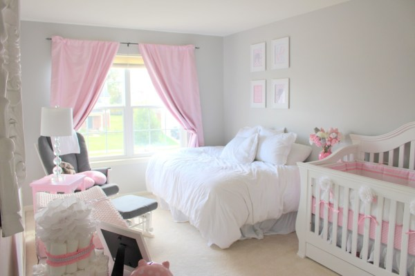 gray and pink twin girl bedroom ideas Elegant Pink & Grey Nursery - Project Nursery